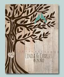 engraved wedding gift personalized wedding gift birds tree engagement gift