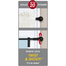 twist and shout smart window rod hardware walmart com