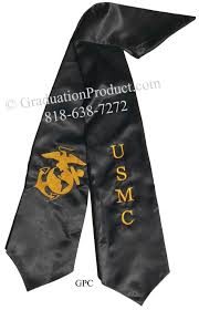 graduation stoles usmc black graduation stole