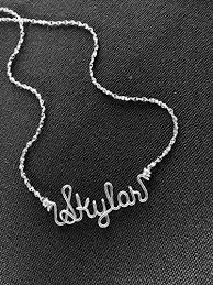 wire name necklace personalized silver wire name necklace or anklet charm