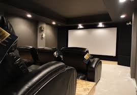 home theater riser platform basement theater idea realistic space and cost arrangement