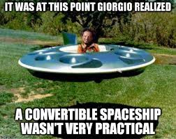 Giorgio Tsoukalos Meme Generator - but hey a flying hot tub is cool imgflip