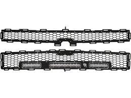 Led Grill Light Bar by 2014 2015 Chevy Silverado Z71 Grille Black Rigid Industries