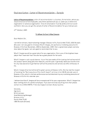 Formal Business Letter Template Business Recommendation Letter Sample Sample Letter With Lucy Jordan