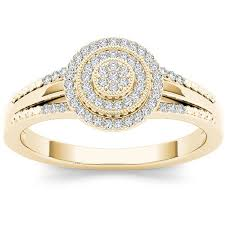 yellow gold diamond rings 1 2 carat t w diamond 14kt yellow gold solitaire ring walmart