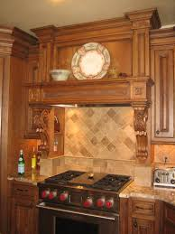 carved oak leaf and acorn decorative range hood carved
