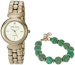anne klein bracelet set images Anne klein women 39 s ak 2850jade diamond accented gold jpg
