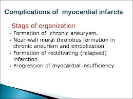 cerebral vascular diseases complications of myocardial infarcts
