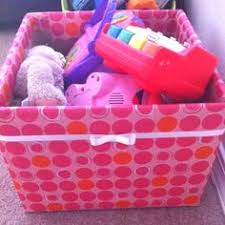 my diy toy box take an empty box of diapers tape up the flaps to