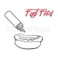 big group of fast food products vector stock vector colourbox