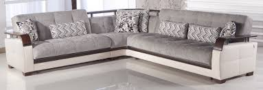 natural valencia grey sectional sofa by sunset
