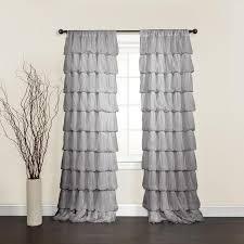 Gray Ruffle Shower Curtain Interesting Grey Ruffle Curtains 26 In Shower Curtains With Grey