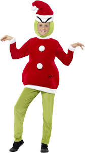 Grinch Halloween Costume Child Grinch Costume Boys Girls Christmas Dr Seuss Fancy Dress