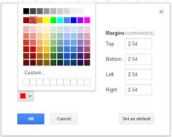 formatting change background color of single page in google