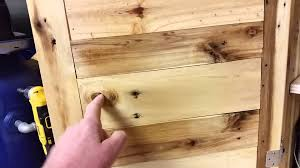 Mahogany Kitchen Cabinet Doors Pallet Wood Cabinet Pt2 Youtube