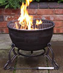 Bbq Firepit Elidir Cast Iron Bowl Bbq Grill In Onepatio Heater