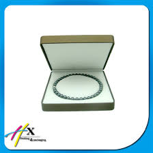 pearl necklace jewelry box images China logo printed hard plastic pearl necklace packaging box jpg