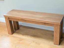 simple design and natural color wood bench ideas on wooden floor