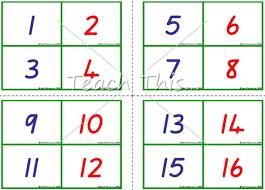 free printable number flashcards 1 20 7 best images of printable number flash cards 1 100 number
