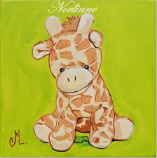 deco jungle bapteme tableau déco enfant bébé girafe enfant bébé tableau enfant bébé