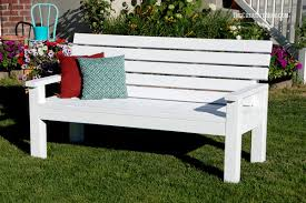 Free Outdoor Garden Bench Plans by Diy Sturdy Garden Bench Free Building Plans Create Pinterest