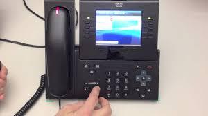 Cisco Desk Phone 9951 Cisco Ip Phone Tutorial Youtube