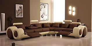 Sectional Recliner Sofas 4087 Bonded Leather Sectional Sofa With Recliners