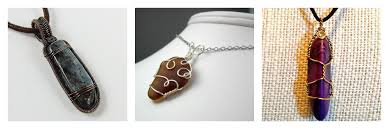 make stone pendant necklace images Free wire jewelry patterns for beginners jpg
