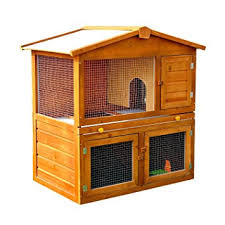 Ferret Hutches And Runs Pawhut Wooden Rabbit Guinea Pig Ferret Hutch House Cage Pen With