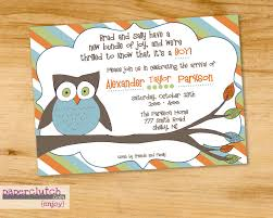 owl baby shower invitation wording and colors can be changed