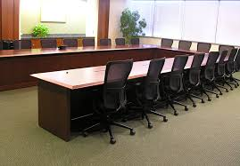 Frosted Glass Conference Table Transitional Arnold Contract