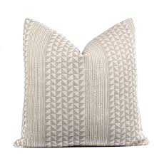 Brown Jordan Aegean by Boho Pillow Cover Aegean Stripe String Flax Linen Lumbar