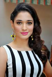 download tamanna bhatia in wavy side swept hairstyle wallpaper
