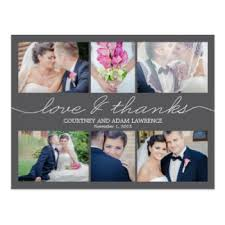 wedding thank you postcards zazzle