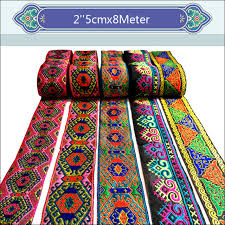 woven ribbon 2 5cmx8meter high quality luxury handmade webbing national wind