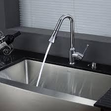 Chrome Kitchen Sink Kraus Khf200 33 Kpf1650 Ksd30ch 33 Inch Farmhouse Single Bowl