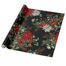 metallic christmas wrapping paper faux metallic floral glossy wrapping paper our christmas