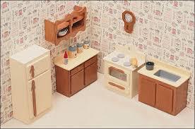 miniature dollhouse kitchen furniture unfinished dollhouse furniture kitchen