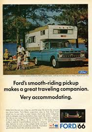 Vintage Ford Truck Advertisements - 1966 ford camper special pickup advertisement photo picture