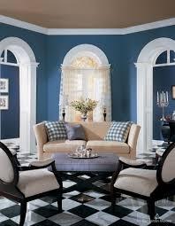 sleek blue wall living room design with living roo 1440x1103