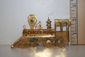 gold plated christmas ornaments gold plated brass christmas ornament locomotive 1983