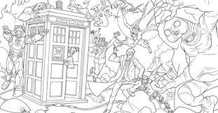 doctor coloring pages bbc colouring gekimoe u2022 25026