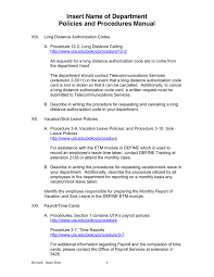 departmental policies and procedures manual template in word and