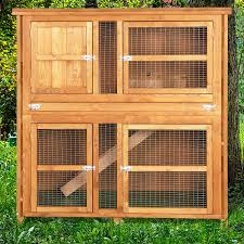 Rabbit Hutches And Runs 4ft Chartwell Double Luxury Rabbit Hutch Amazon Co Uk Pet Supplies