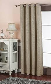 Single Blackout Curtain Amazon Com Best Dreamcity Faux Linen Blackout Curtain Grommet