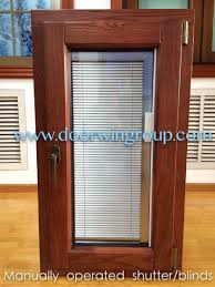 china aluminium solid wood windows with shutters blinds non