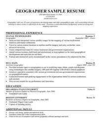 geographer cover letters