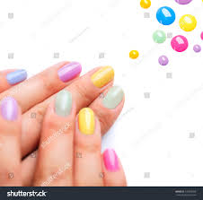nail polish art manicure multicolored nail stock photo 146053388