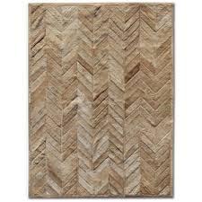 chevron cowhide rugs you u0027ll love wayfair