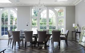 Grey Dining Room Furniture Grey Dining Room With Classic Interior Design Style And